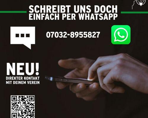 NEU! Schreibt uns per WhatsApp