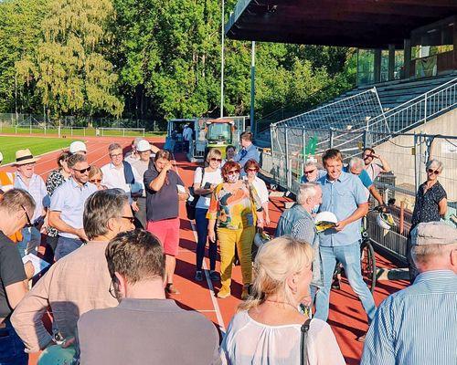 Gemeinderat besucht VfL Baustelle